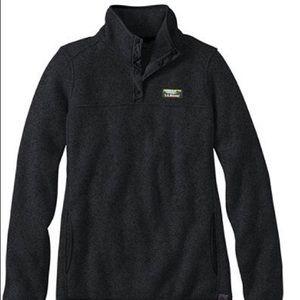 L.L. Bean snap-t fleece pullover jacket